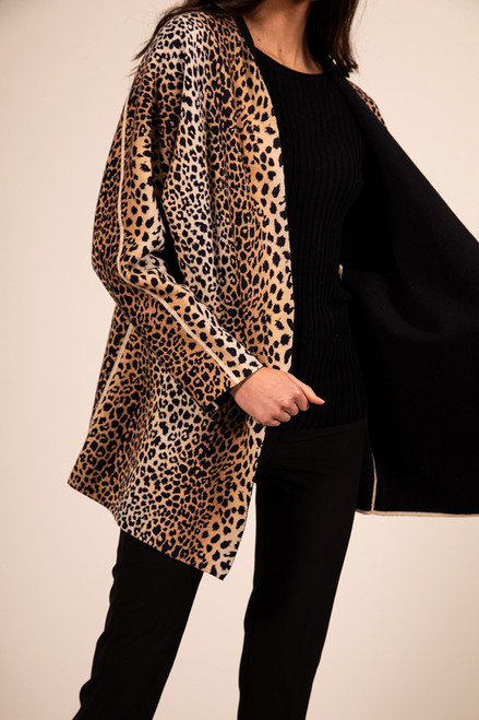 Reversable Cheetah Cardigan