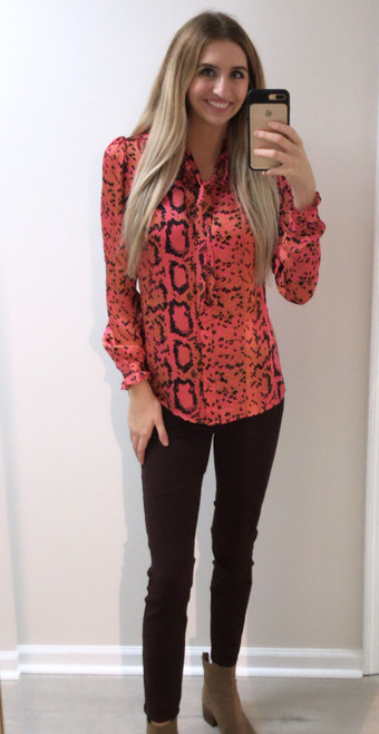 Pink Santana Tyra Blouse