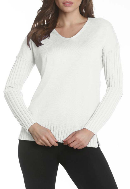 Knit Tunic with Ribbed Sleeves