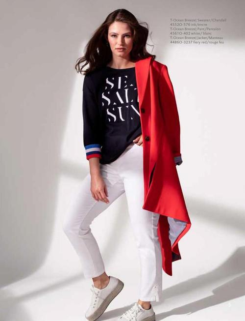 3/4 Sleeve Crew Neck Sweater