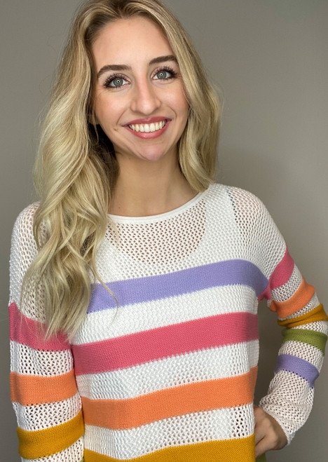 Light Knit Stripe Sweater