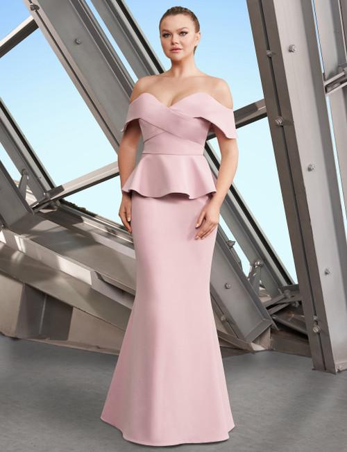 Off the Shoulder Peplum Dress