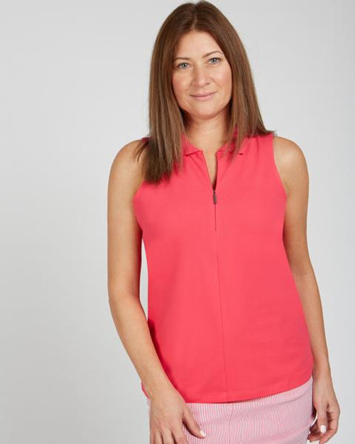 Knit Sleeveless Collared Top