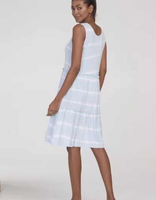 Sleeveless Flounce Dress