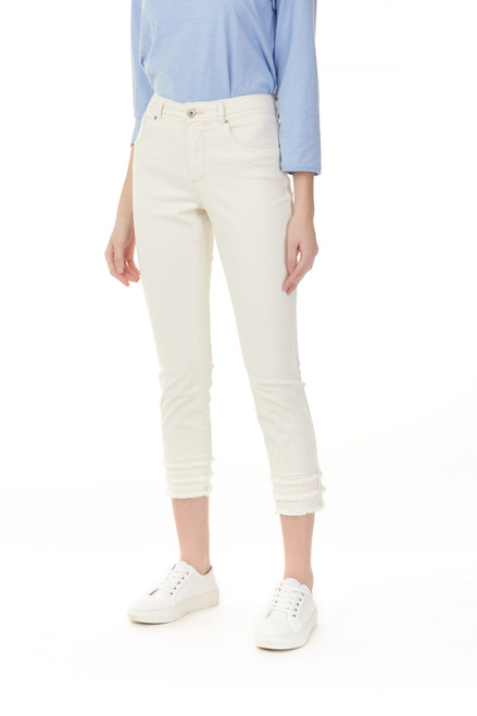 Twilled White Pant