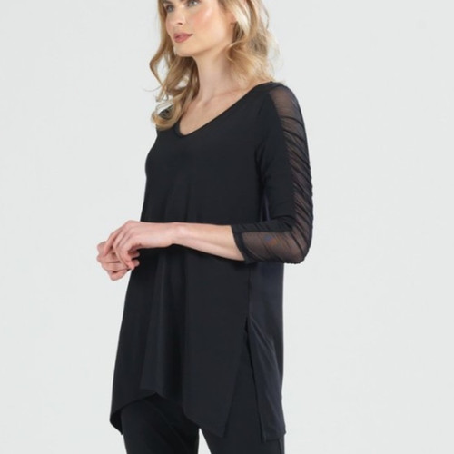 Sheer Sleeve Tunic