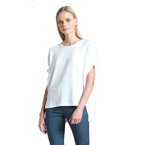 Stretch Loose High Low Tunic