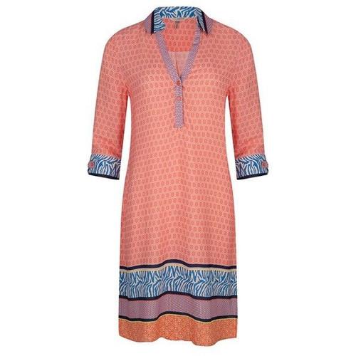 Orange Multi Print Dress