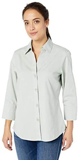 Grey-lime Long Sleeve Button Down