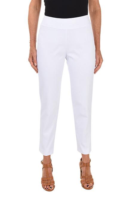 Textured White Pique Pant