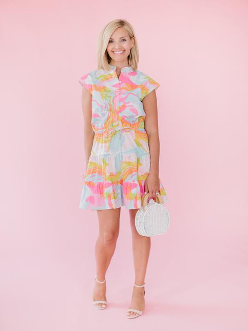 Whimsical Watercolor Dress