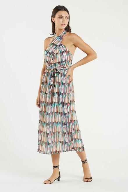 Hedi Halter Dress Watercolor