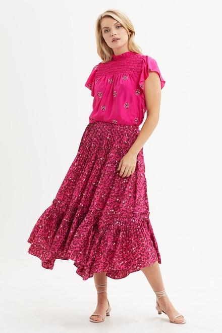 Eddie Skirt in Pink Speckle