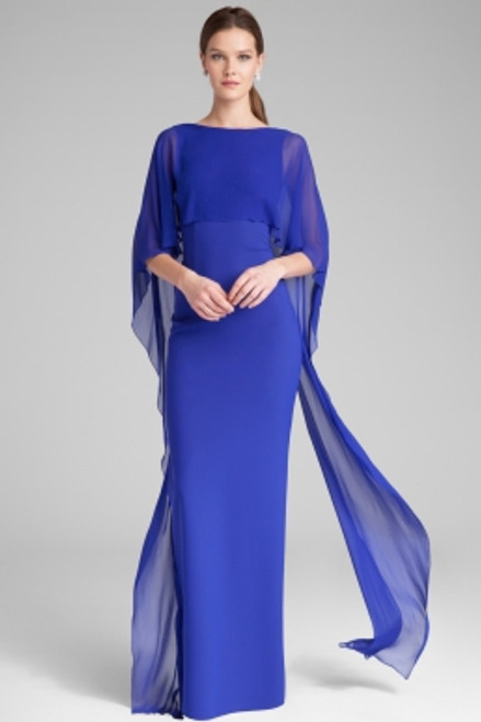 Scuba Gown with Chiffon Cape