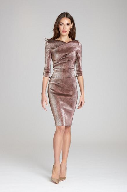 Stretch Metallic Ruched Dress