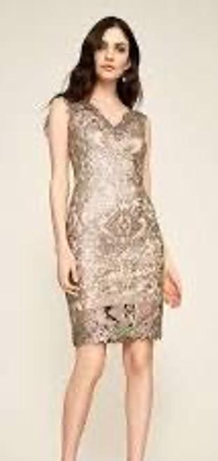Sequin & Lace Sheath Dress