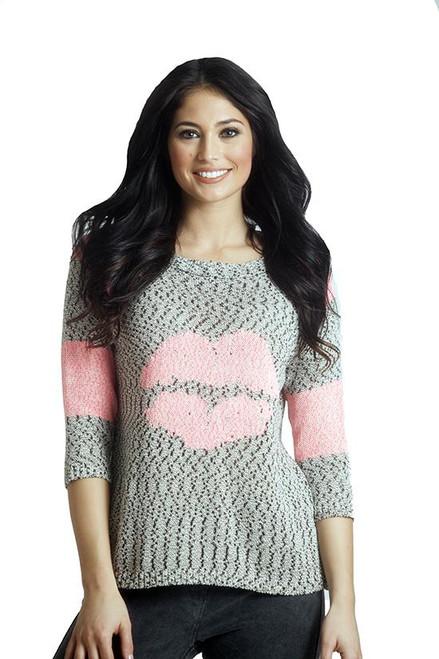 Yasmina Lip Crochet Top