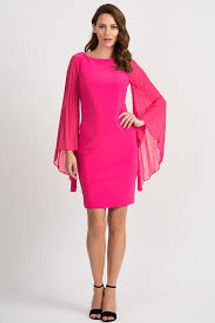 Hyper Wide Pleat Sleeve Dress
