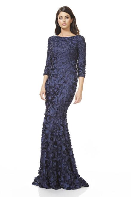 3/4 Sleeve 3D Petal Dress