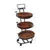 Willow Merchandising Basket - (3) Shelf - Mobile