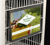 """GROCERY CART SIGN HOLDER-11""""W X 7""""H- 1/PACK"""