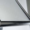 """Aluminum Curved Pedestal Sign Holder & Menu Stand - 11""""w×17""""h Snap Frame - Black"""