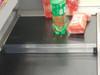 "Checkout lane divider on grocery conveyor belt. 16""L x 1""H x 1""W"