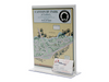"""Acrylic Sign Holder with Business Card Holder - 8.5""""w x 11""""h - Portrait Orientation - 3.5""""w x 2""""h Business Cards"""