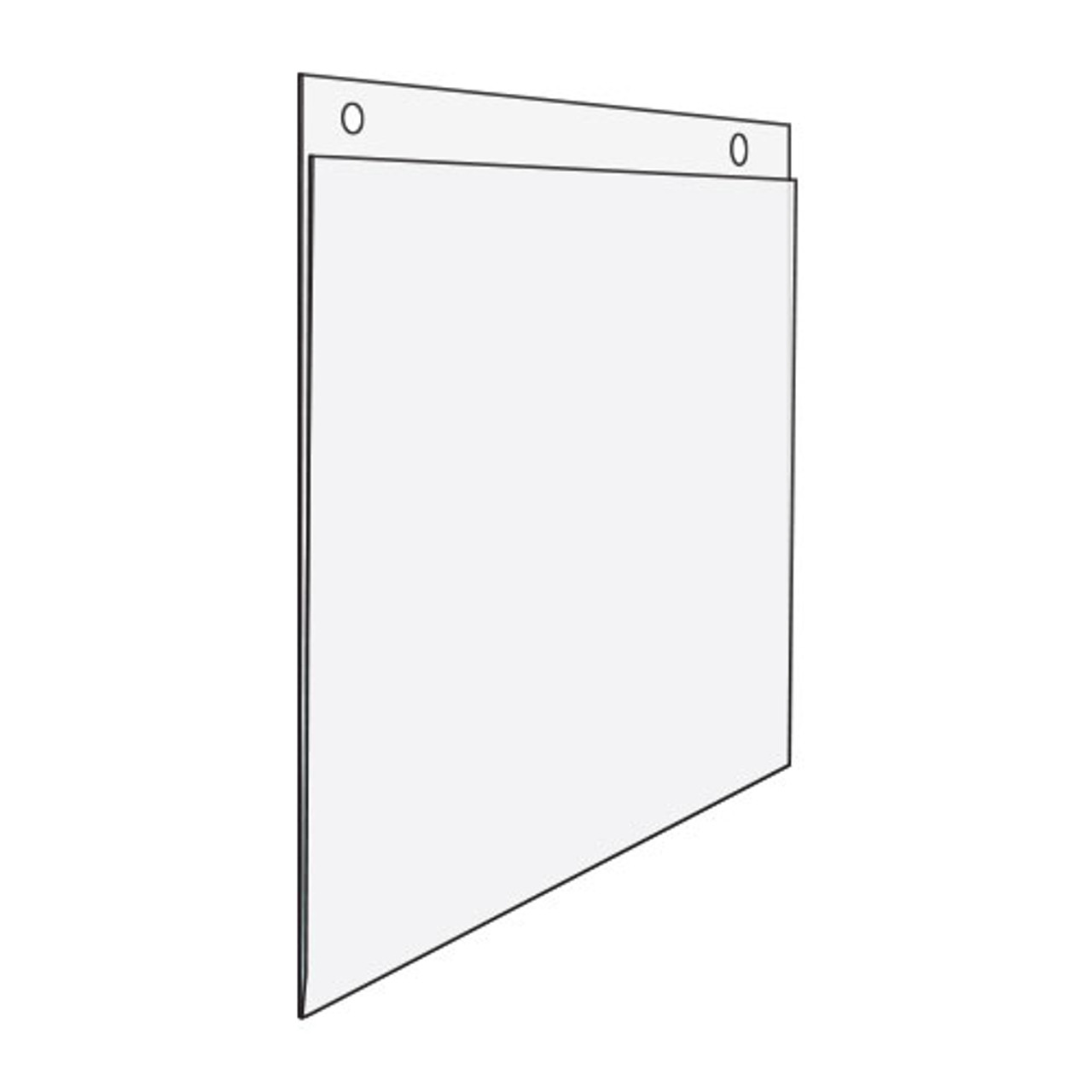 """Acrylic Wall Mount Sign Holder - 11""""w x 8.5""""h"""