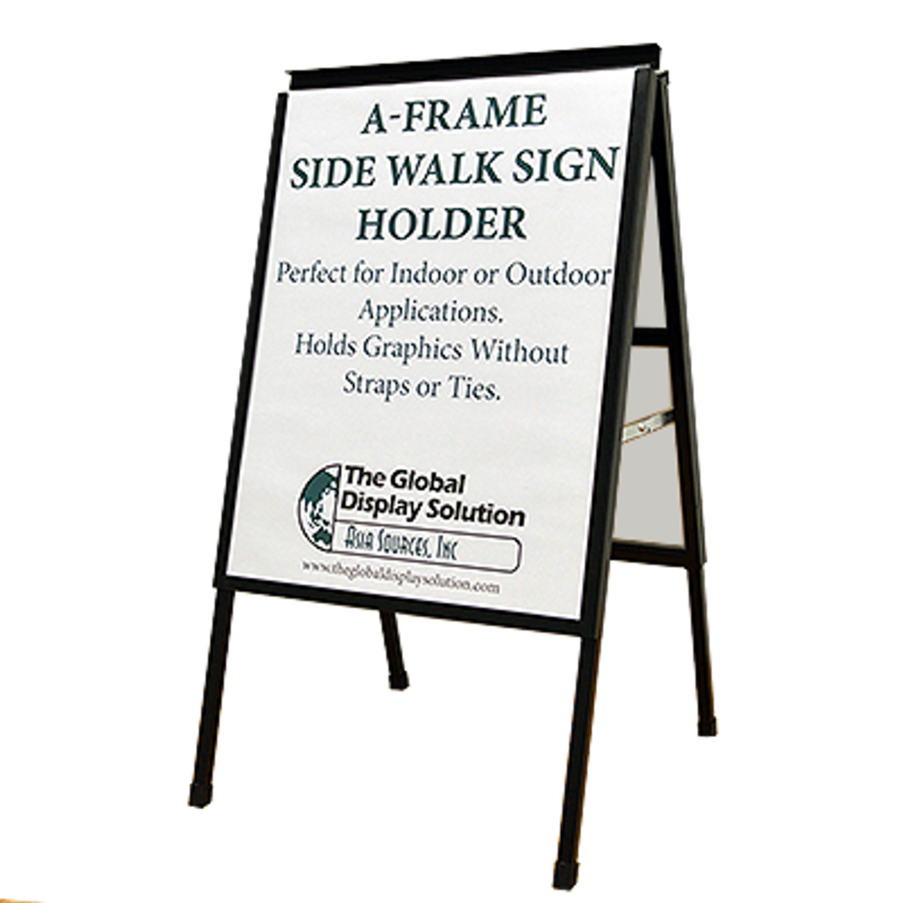 """A-Frame Double-sided Sidewalk Poster Sign - Steel With Black Finish- Fits 22"""" x 28"""" Signs"""