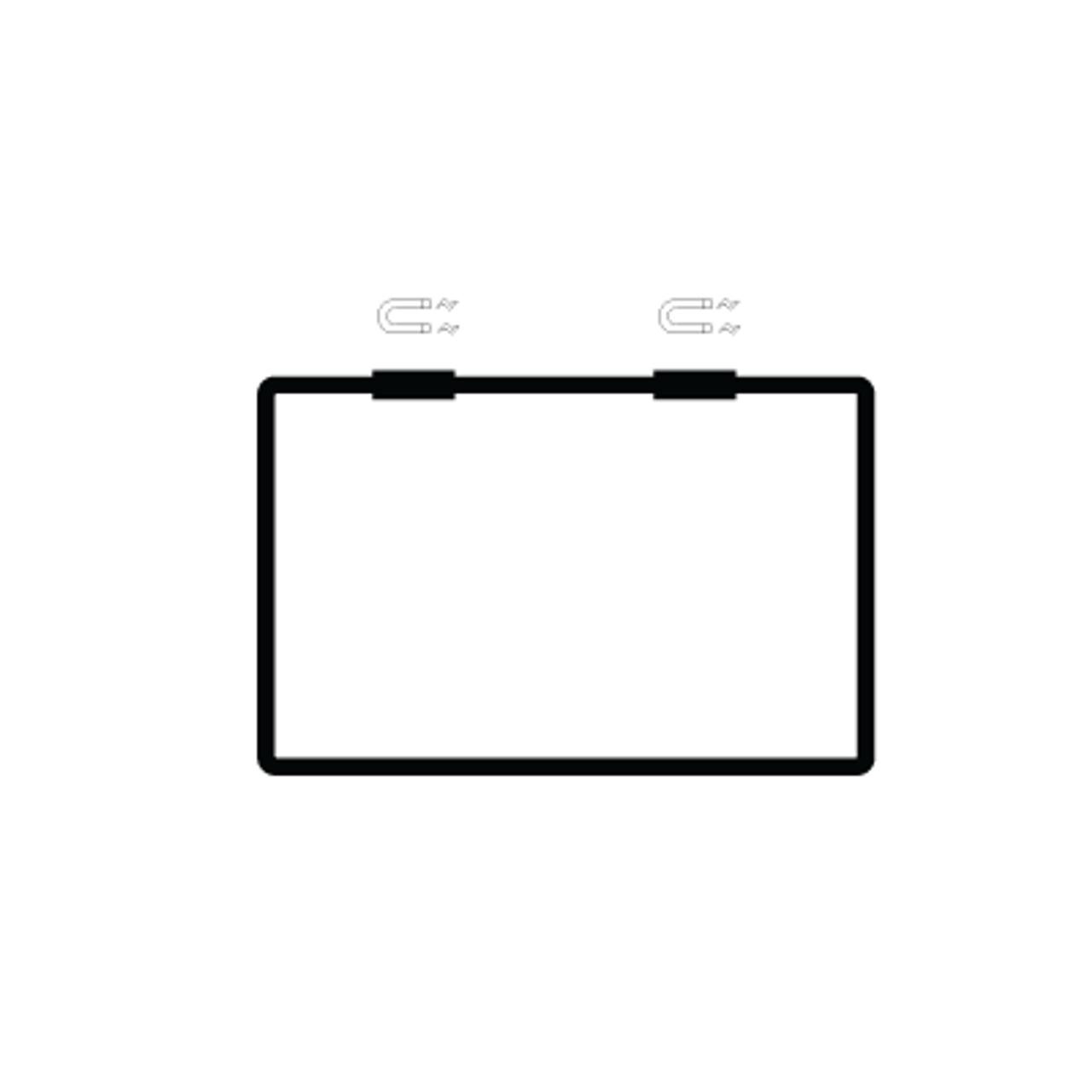 "Hanging Magnetic Mount Sign frame - Black Finish - Fits 11""w x 7""h Sign Insert"