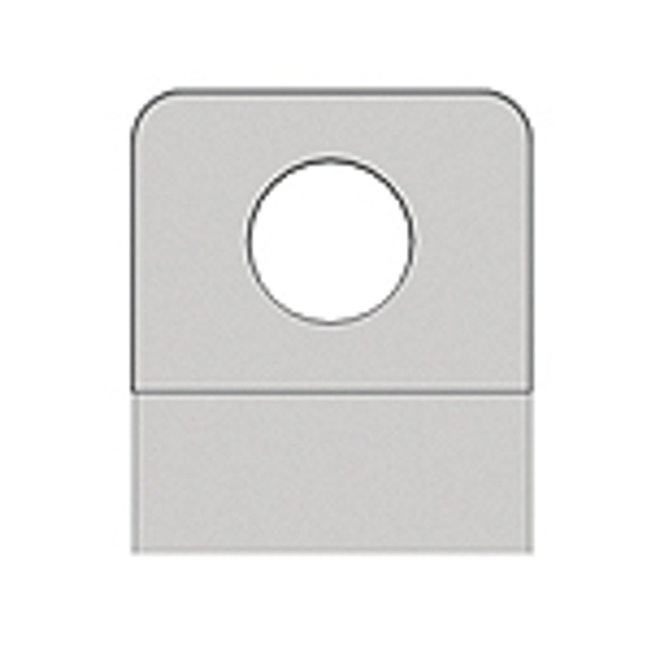 Round Hole Hang Tab - With Adhesive - 7/16 Diameter Hole