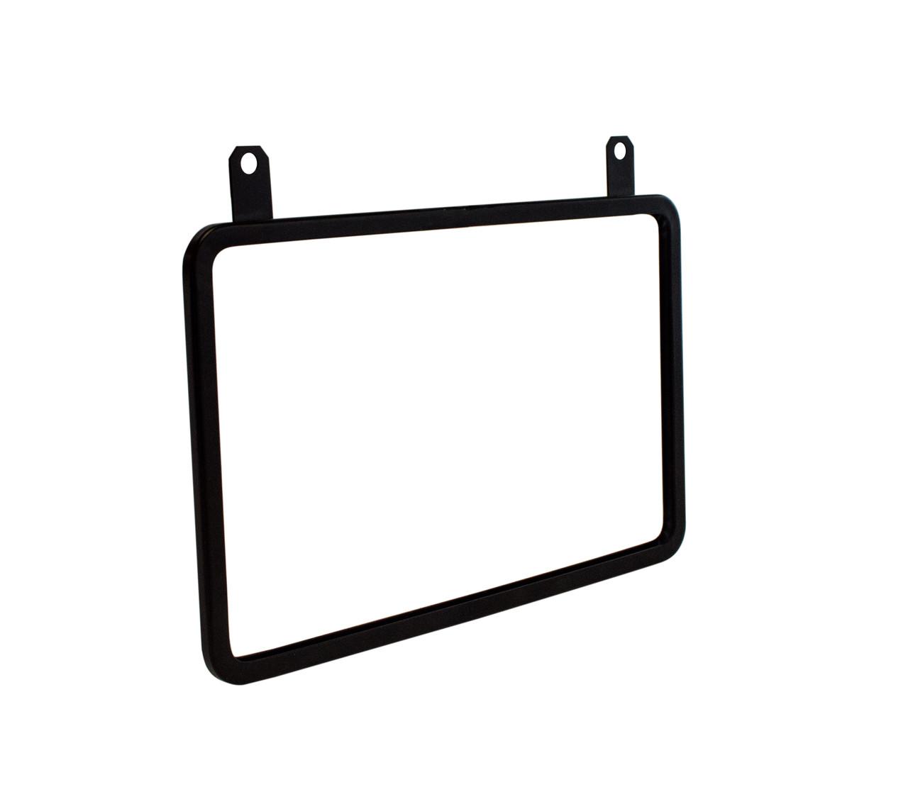 "Hanging Metal Sign Frame - Black Finish - Displays 11""w x 7""h Sign"