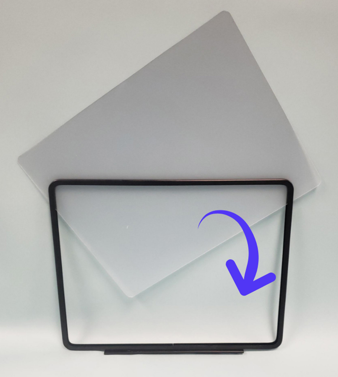 """Sign protector open on three sides - 14""""w x 11""""h"""