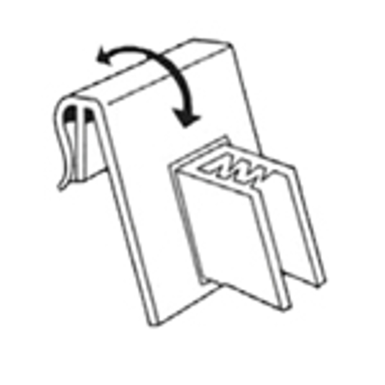 Flag Sign Gripper - Attaches to Ticket Holder Windows - 100/Pack
