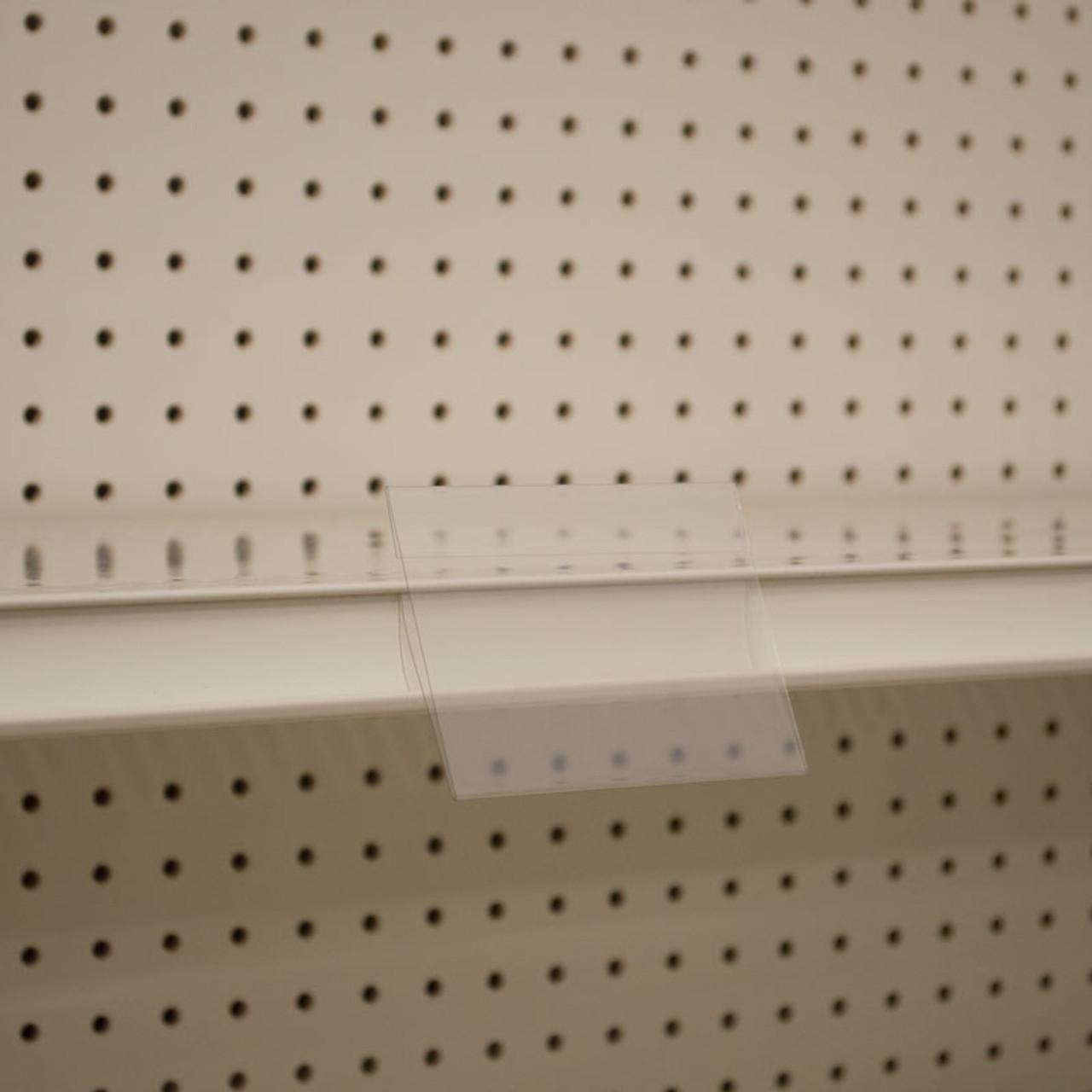 "Shelf Edge Sign Holder - Center Mount - (6UP) - 4""w x 3""h 25/Pack"