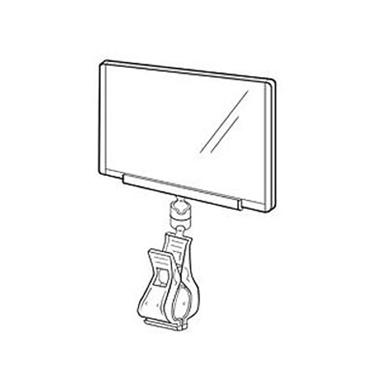 """POP Sign Clip - Attached Clear Print Protector - Displays 3.75"""" x 2.5""""  Signs and Labels"""