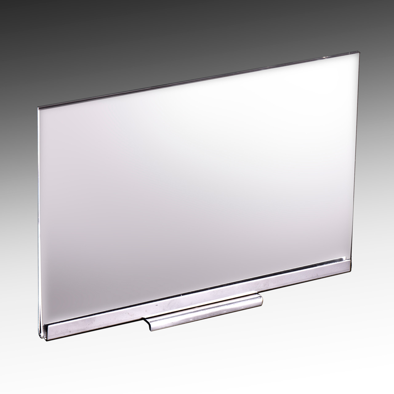 Acrylic sign holder with magnetic base - Displays 11 x 7 sign