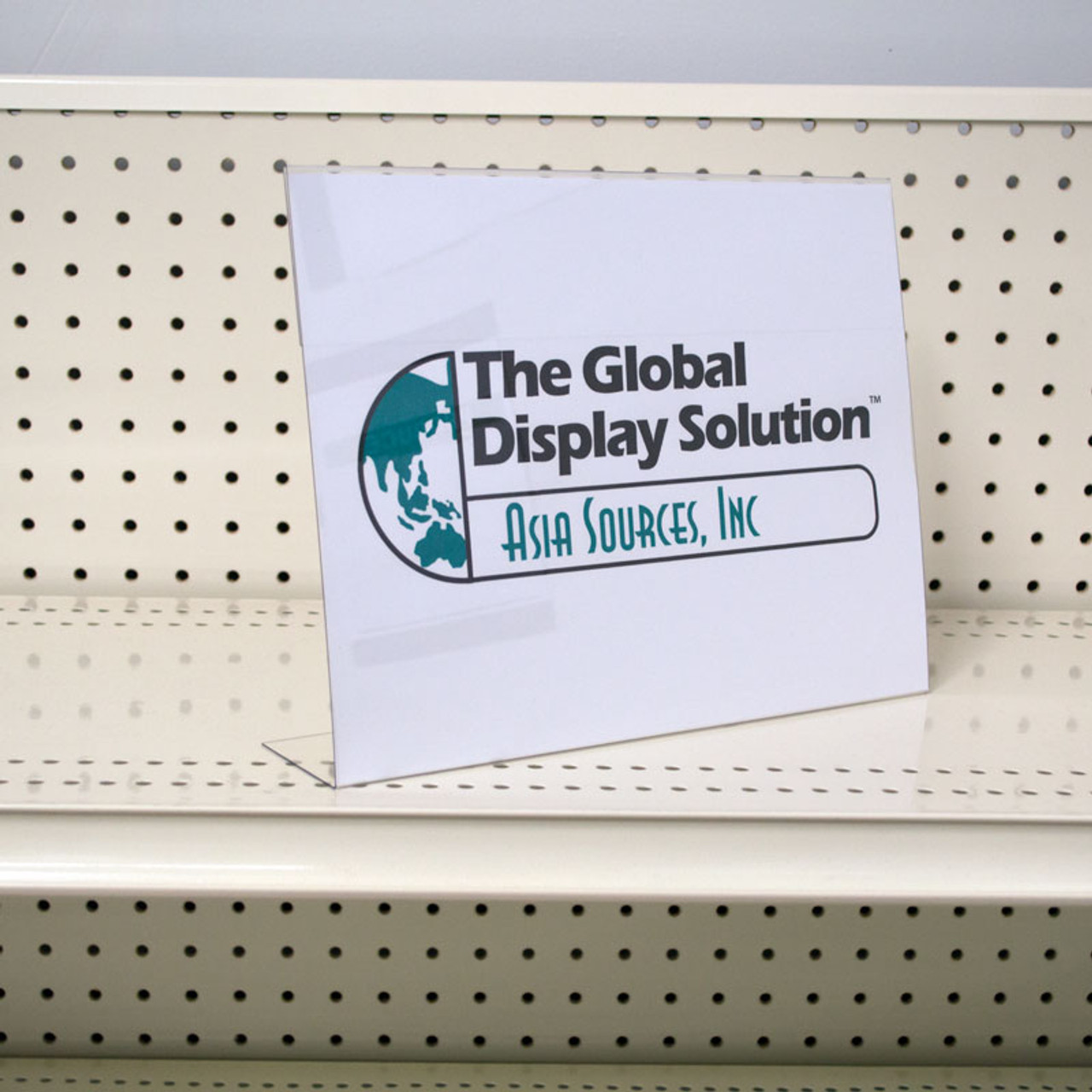 Case stack sign protector for use in retail stores and warehouses