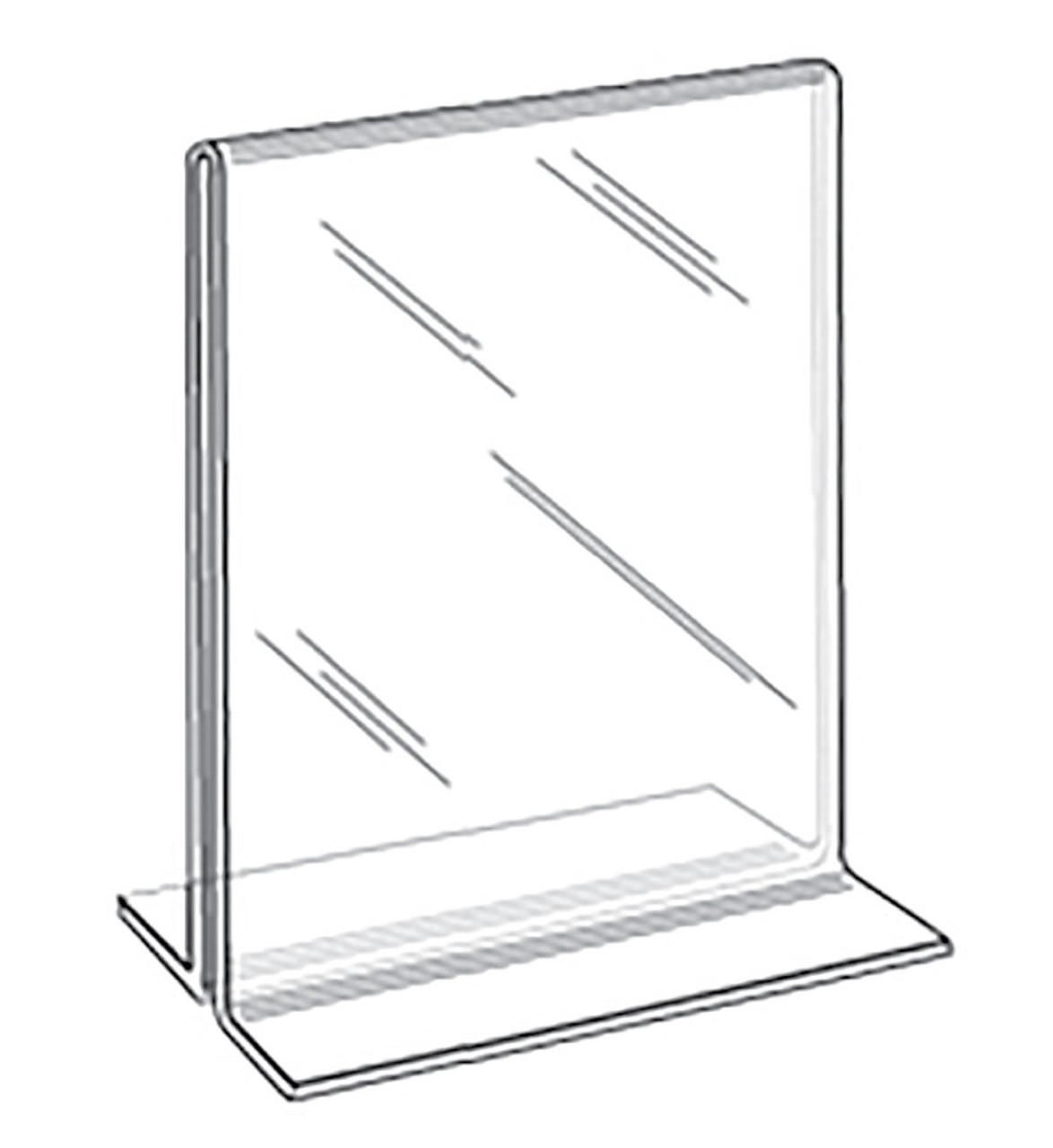 "Acrylic Sign Holder - Bottom Load - Portrait - 11""w x 17""h 1/Pack"