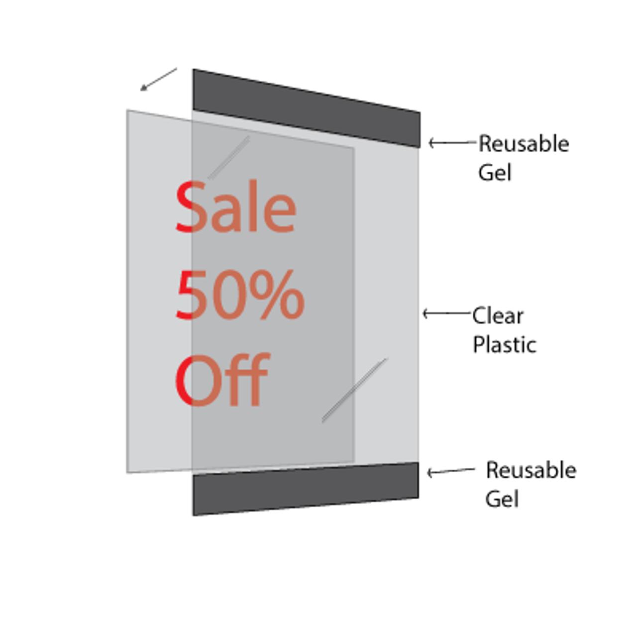 """Reusable Frame 8.5""""w x 11""""h - 1"""" White Border - 5/Pack"""