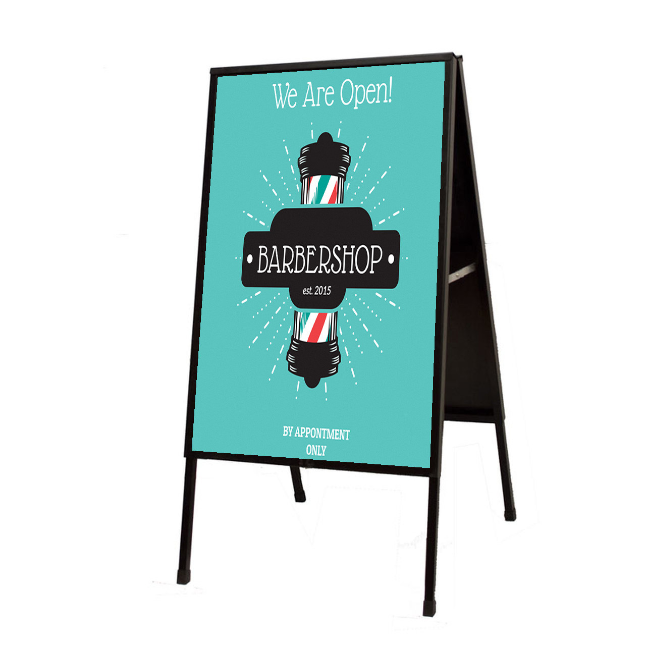 "A-Frame Sidewalk Sign - Black - 24""w x 36""h"