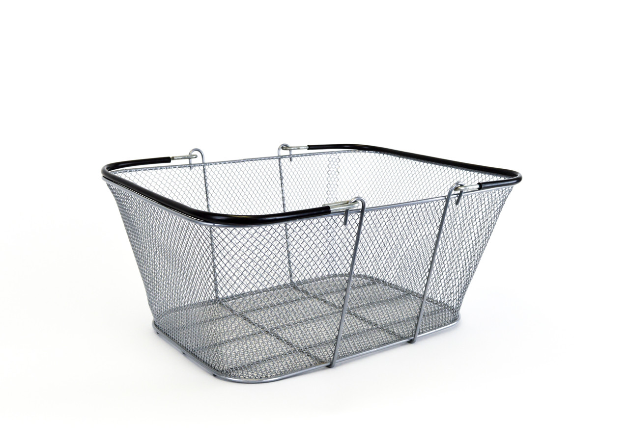 """Silver Mesh Wire Basket 16""""w x 12"""" H x 6.5"""" D  10/Pack"""