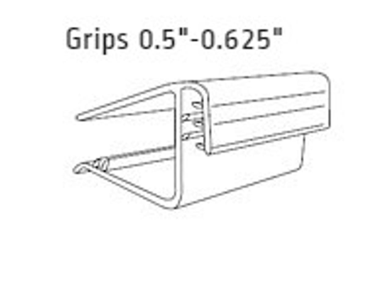 """Shelf Edge Gripper - Flush Sign Holder-Grips 0.5""""-0.625""""-1.5""""L 25/Pack"""
