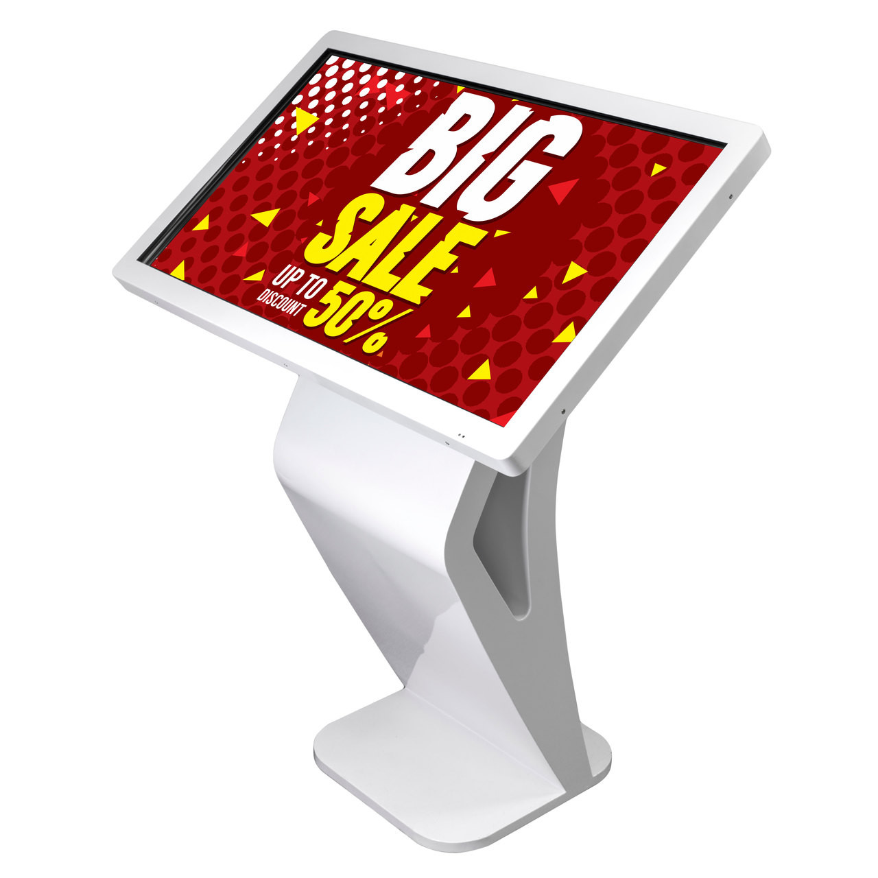 """43"""" touch screen digital Display with attractive and Sturdy Metal Base"""