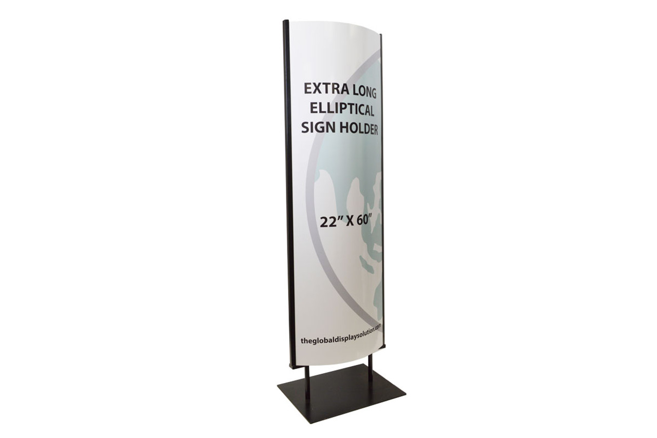 Floor elliptical sign holder