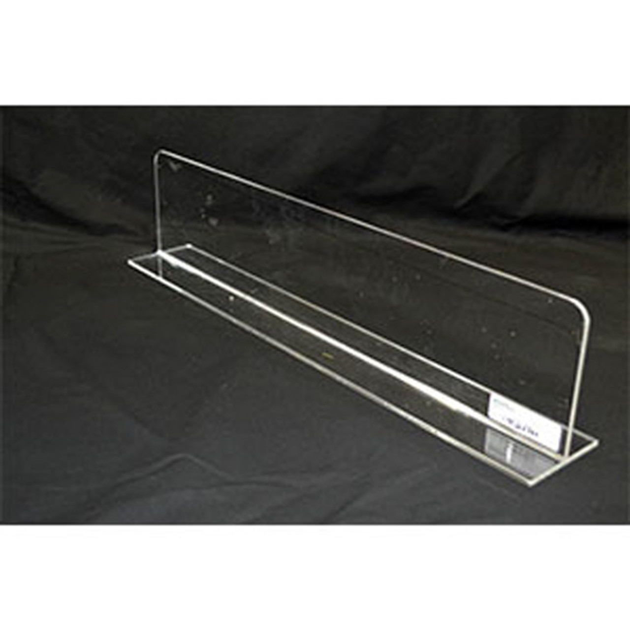 """ACRYLIC DIVIDER W/ROUNDED CORNERS-26""""L X 6""""H-10/PACK"""