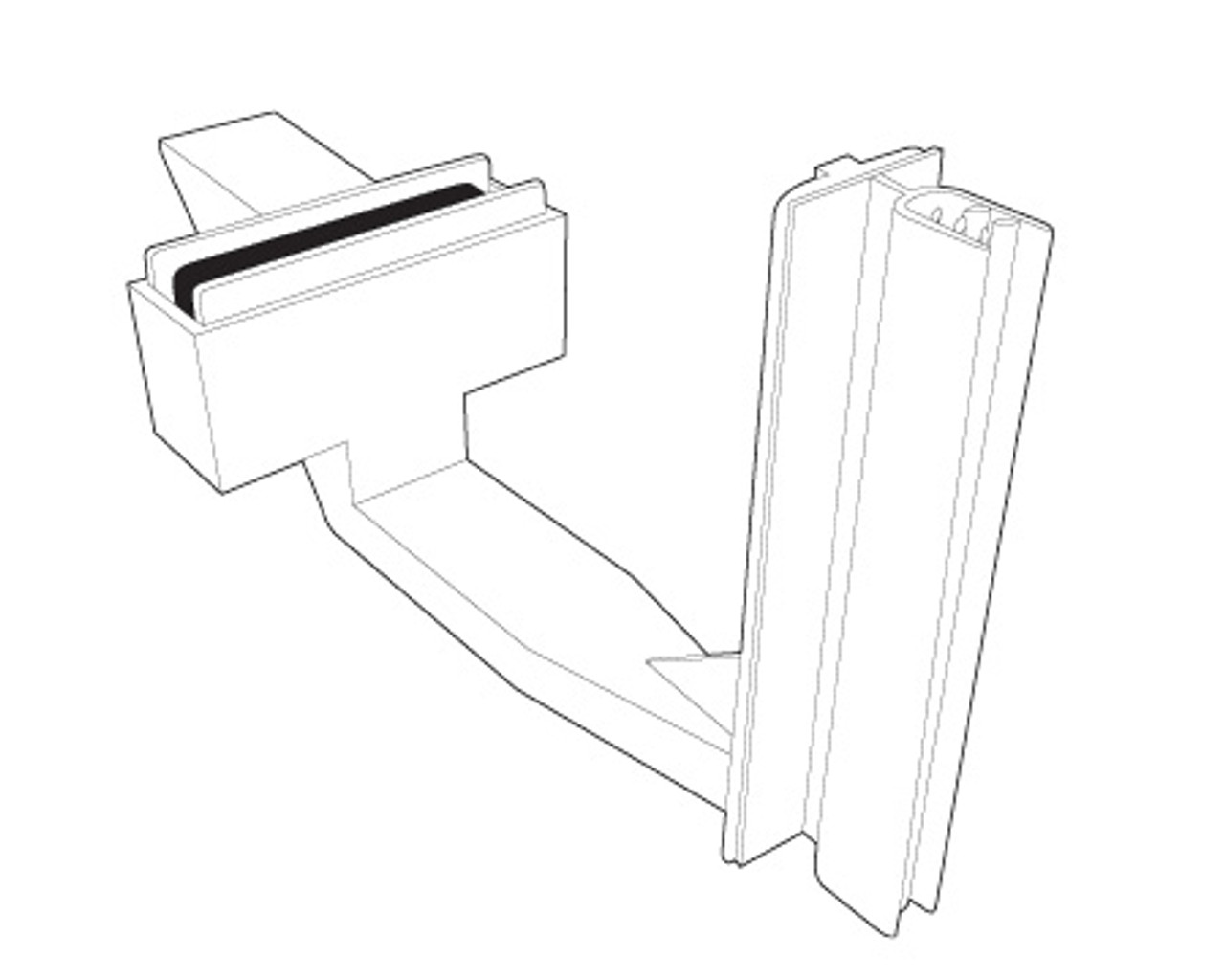 Magnetic blade sign holder gripper - with no tip feature