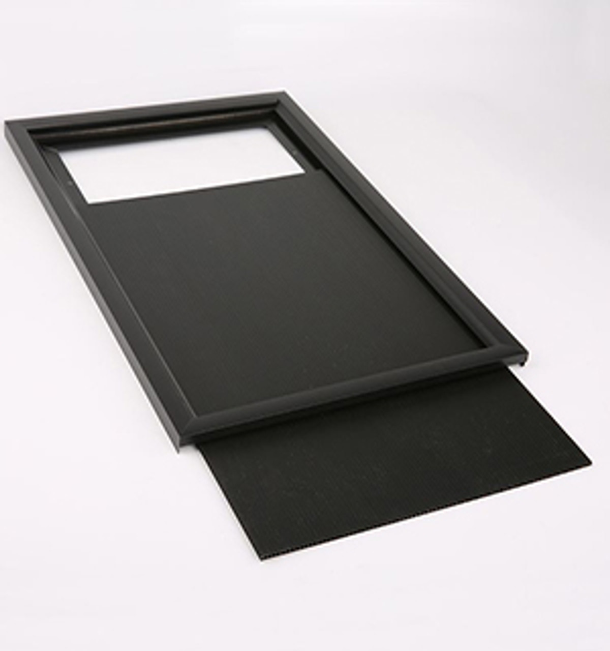 """Aluminum Slide In Frame - 11""""w x 17""""h - Black- 1"""" Frame 1/Pack"""