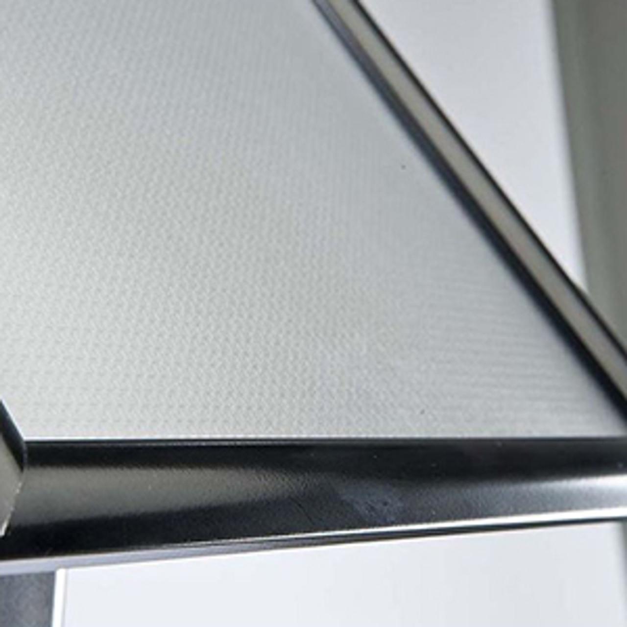"""Aluminum Curved Pedestal  Sign Holder & Menu Stand - 8.5""""w × 11""""h Snap Frame - Black"""